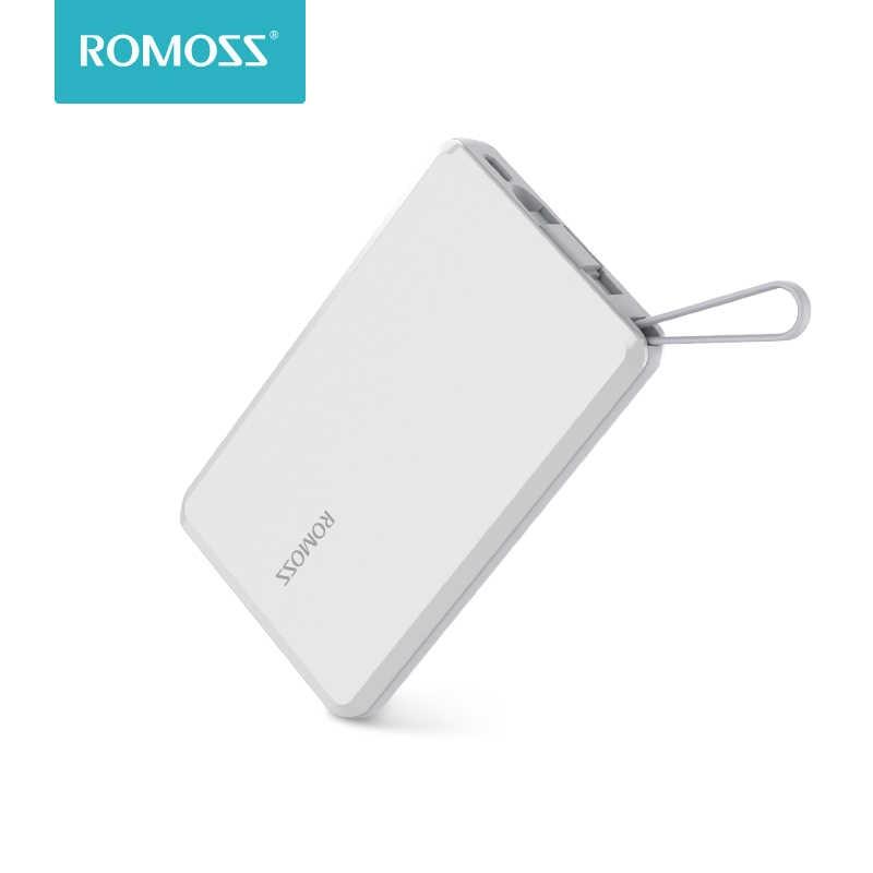 ROMOSS QS05 Banca di Potere 5000mAh Caricatore Portatile Esterno Batteria Mobile Veloce Powerbank per Xiaomi Samsung Huawei