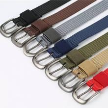 Elastic Belt For Men And For Women Waist Belt Canvas Stretch Braided Woven Leather Belt Black Extend 115 CM