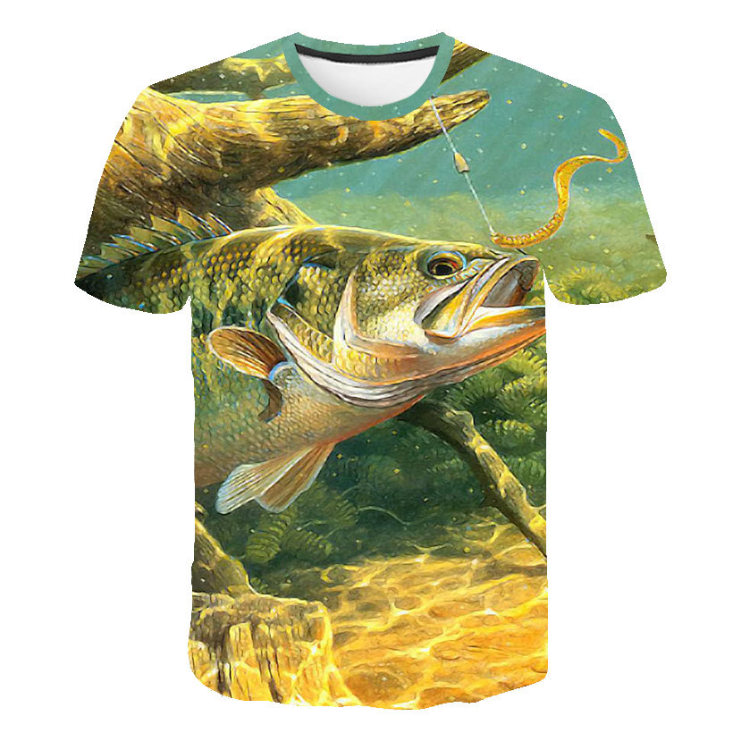 Summer Outdoor T Shirt Fishing Tee Quick Drying Breathable Sports Outdoor Men Clothing Fishing Short Sleeve Top Fishing Shirt