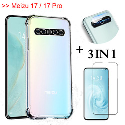 На Алиэкспресс купить стекло для смартфона 3-in-1 pelicula,glass for 6.6'' in meizu 17 pro transparent airbag case meizu 17 phone armor back cover meizu 17pro 5g cases