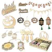 Fengrise-Decoración de madera EID Mubarak para el hogar, decoración de Ramadán feliz, suministros de fiesta islámica musulmana, Ramadán, Eid, Al, Adha, 2020