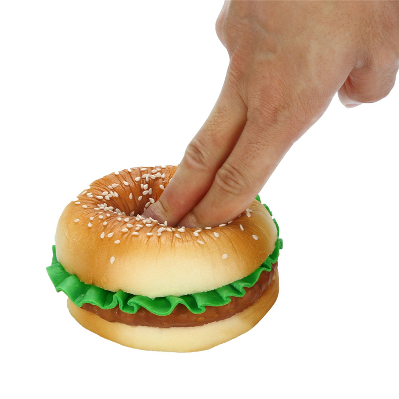 10cmx8cm Simulation Sesame Hamburger Squishy Soft Decompression Toy Scented Squishies Slow Rising Kids&Adults Toys Gifts A40
