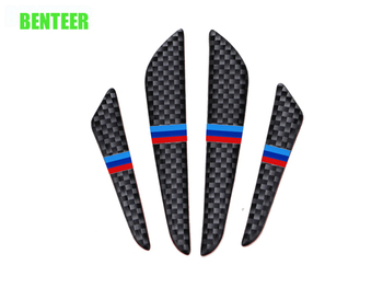 4pcs power performance M car door sticker for bmw E34 E36 E60 E90 E46 E39 E70 F10 F20 F30 X5 X6 X1 image