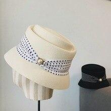 Hat Winter Autumn Girl And Retro Wool Felt-Hat Basin Concave Wild Japanese Hepburn Famous