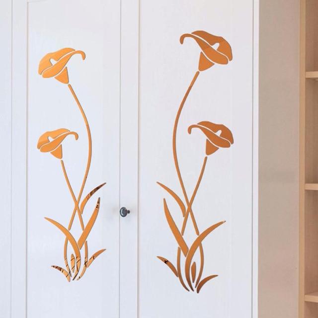 3D Diy Flower Shape Acrylic Wall Sticker Modern Stickers Decoration Living Room Removable Mural Wallpaper Art Decals Home Decor 3