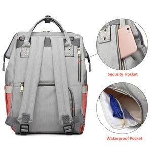 Image 4 - Lequeen Diaper Bag Nursing Care Baby Bag Stripe Maternity Bag Travel Nappy Bag Organizer Waterproof Maternity Patchwork Bag