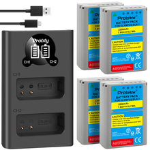 Para Olympus BLN 1 BLN1 baterías + Cargador USB LED Dual OM D E M1 Mark II E M5 EM1 EM5 PENF EP5