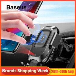 Baseus автомобильный держатель телефона для iPhone samsung интеллектуальный инфракрасный Qi автомобильное беспроводное зарядное устройство Вентиля...