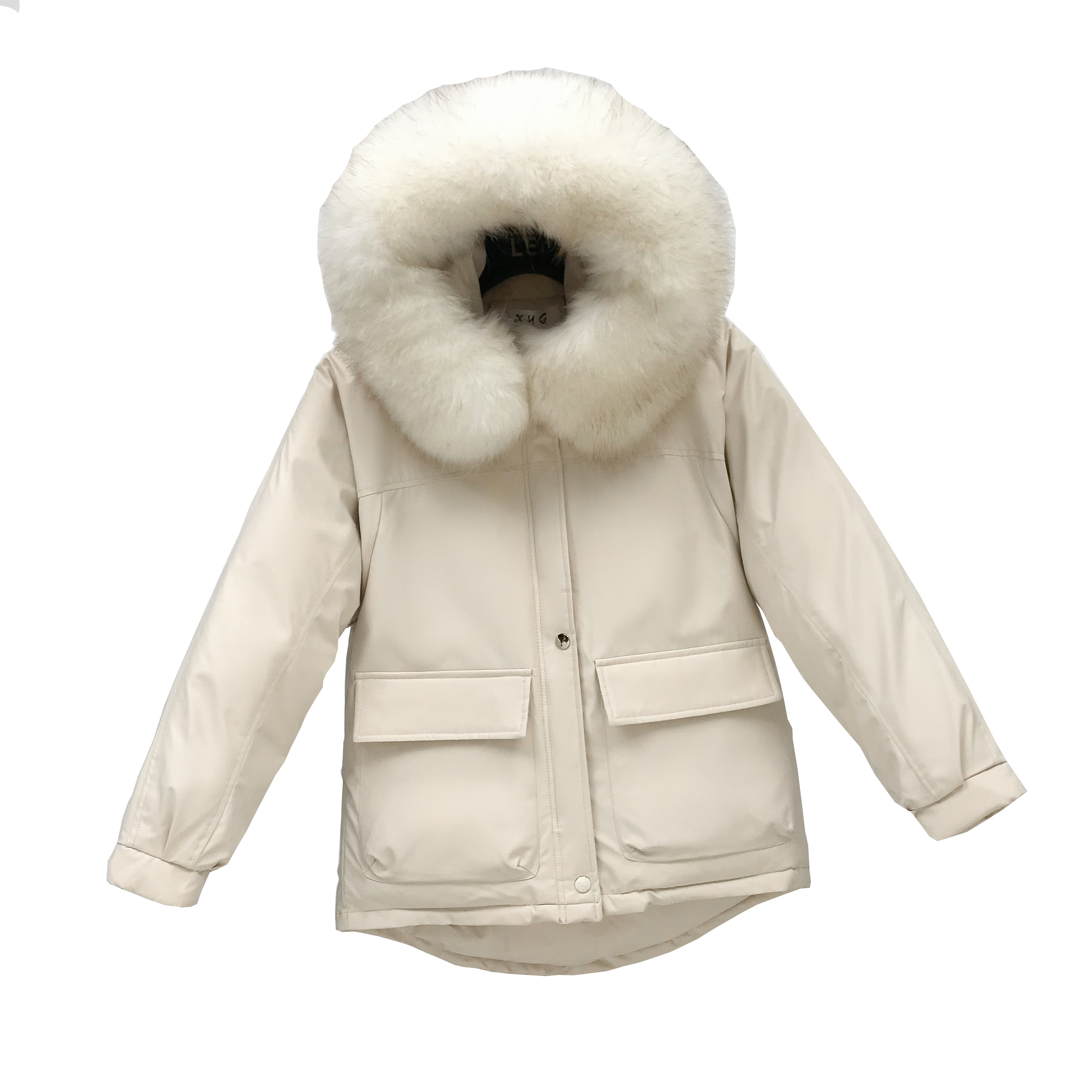 2019 New Style Winter Women Jacket Casual Hoohed Big Fur Collar Thick Warm Snow Wear Jackets  Korean  Winter Thinck Coats