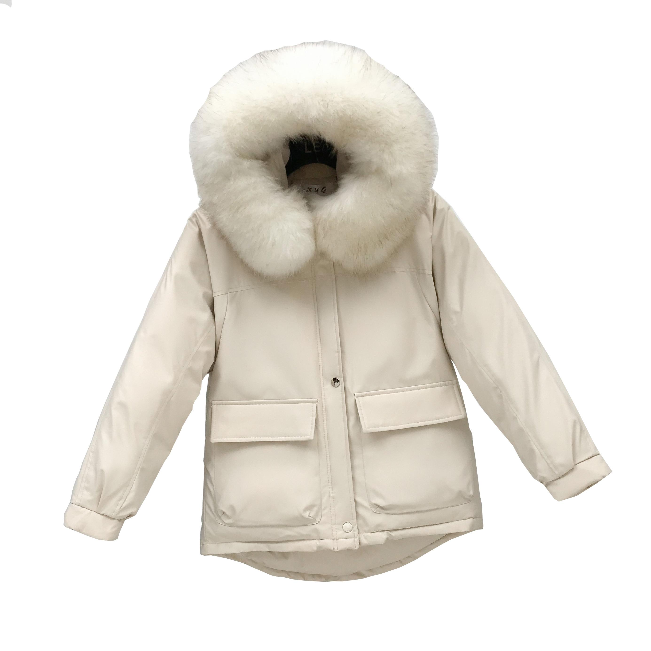 2019 New Style Winter Women Jacket Casual Hoohed Big Fur Collar Thick Warm Snow Wear Jackets  Korean  Winter Thinck Coats