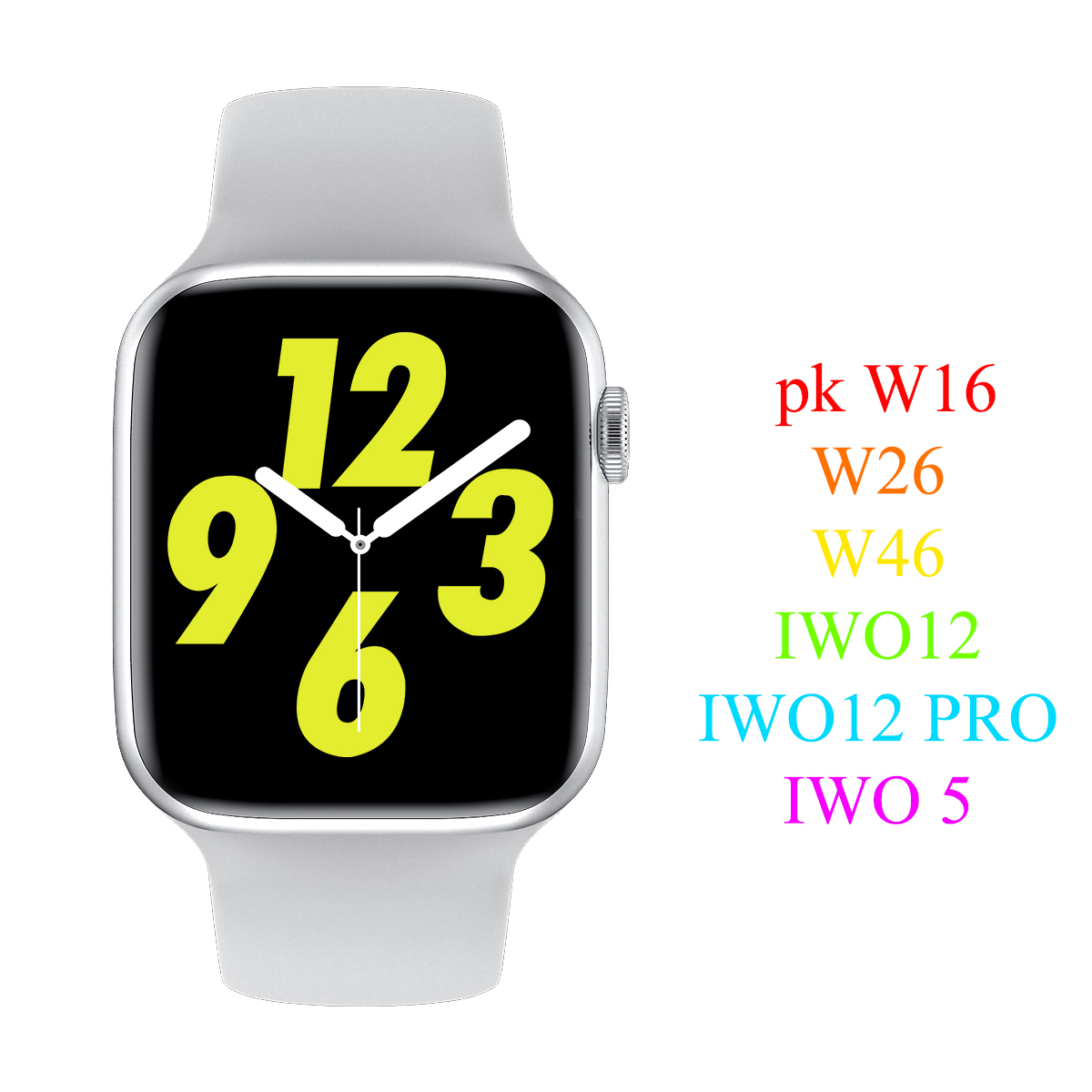W16 PK W26 IP68 Smart Watch IWO 12 pro Heart Rate Monitor 320 385 Resolution Fashion IWO 12 SmartWatch 5 for Android IOS Phone