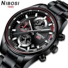 Мужские часы Топ люксовый бренд nibosi Золотые спортивные водонепроницаемые