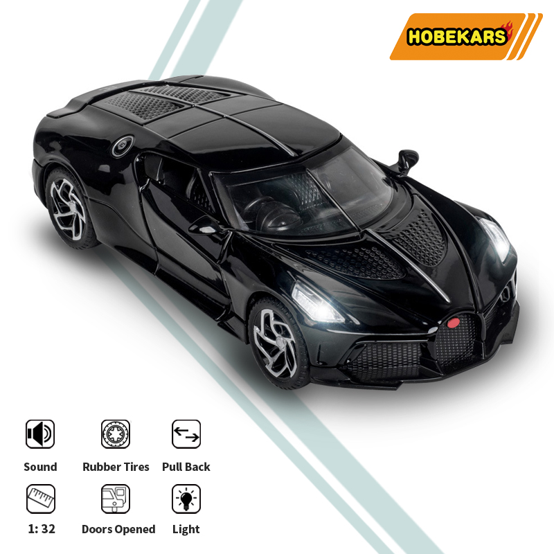 HOBEKARS 1:32 Diecasts Model Car Toy Vehicles Simulation Metal Alloy Sport Car Sound And Light Pull Back Car Toys For Kids Gifts
