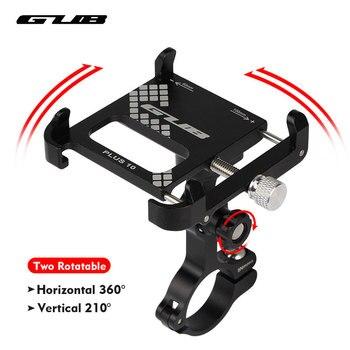 """GUB aluminium vélo support pour téléphone 3.5 """"à 7.5"""" vélo téléphone montage sport caméra lumière transporteur moto guidon pince support 1"""
