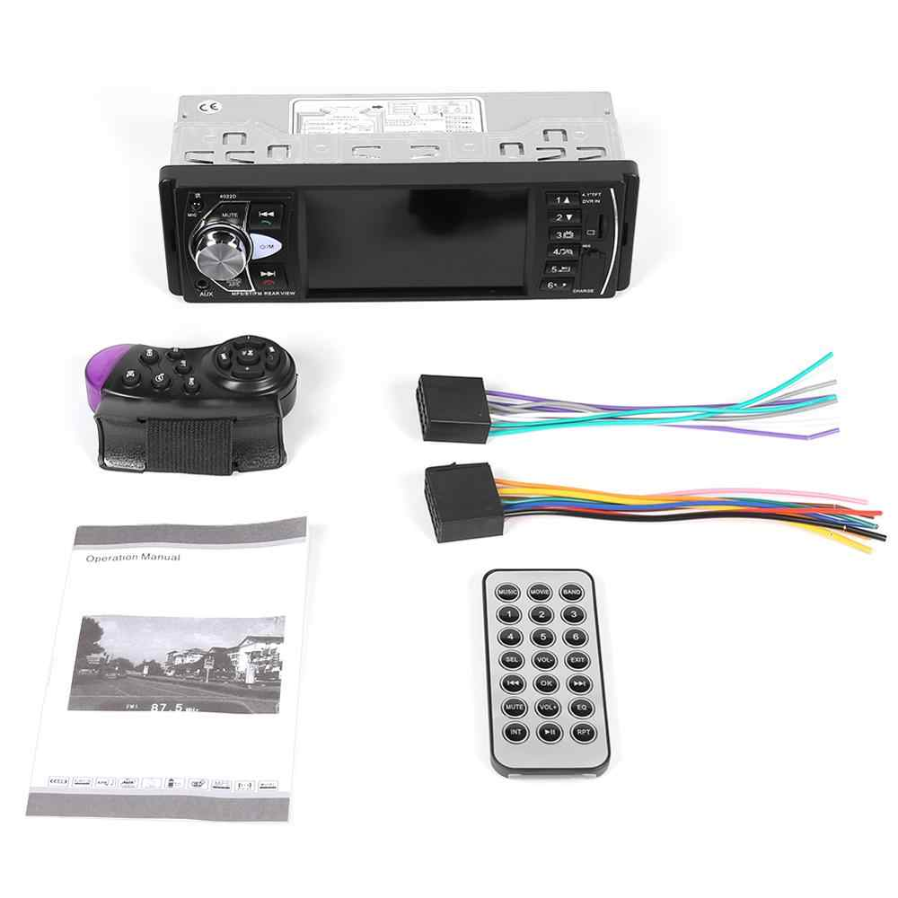 "Klasik 4022D 4.1 ""Mobil Radio Player 1 Din Auto Radio Stereo USB TF AUX FM Audio Radio W/Rear View Kamera Remote Control"