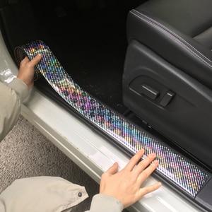 Image 2 - 炭素繊維ゴム成形ストリップソフト黒トリムバンパーストリップ DIY ドア敷居プロテクターエッジガード車のステッカー車のスタイリング 1 メートル