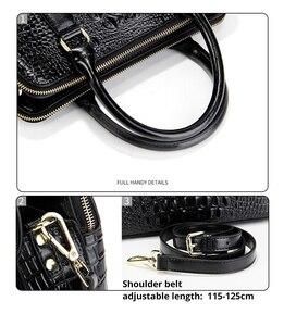 Image 3 - Женская сумка из натуральной кожи, модная сумка через плечо с узором «крокодиловая кожа», Классическая сумка через плечо, LongLight