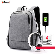 USB Charging Men Backpack Laptop gray Oxford 2020 High Student Backpack School Bags Large Back Pack Male Bag Pack big