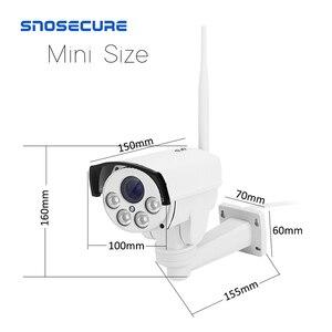 Image 2 - Snosecure wifi câmera ip ptz bala ao ar livre 5x 10x zoom óptico 5mp sem fio ir noite onvif áudio cctv câmera normal e poe