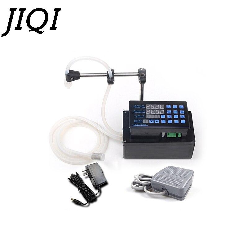 JIQI Electrical liquids filling machine MINI bottled water filler Digital Pump For perfume drink water milk olive oil 110V 220V