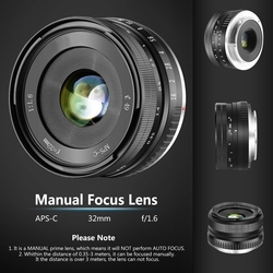 32mm F1.6 Large Aperture Manual Prime Fixed Lens APS C for Sony E Mount Digital Mirrorless Cameras NEX 3 NEX 3N NEX 5 NEX 5T NEX|Obiektywy do aparatu|   -