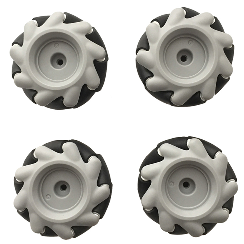 4pcs 20KG Big Load 60mm Mecanum Wheel Omni Tires For ROS With 4/5/6mm Couplings For Arduino Raspberry Pi DIY Robot Toy Parts