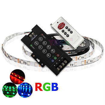 DC12V-24V 30A Black Iron LED 8 Key RGB Controller with RF Remote for RGB SMD 5050 3528 led Strip Light led Module