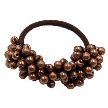 14 Colors Woman Elegant Pearl Hair Ties Beads Girls Scrunchies Rubber Bands Ponytail Holders Hair Accessories Elastic Hair Band 43