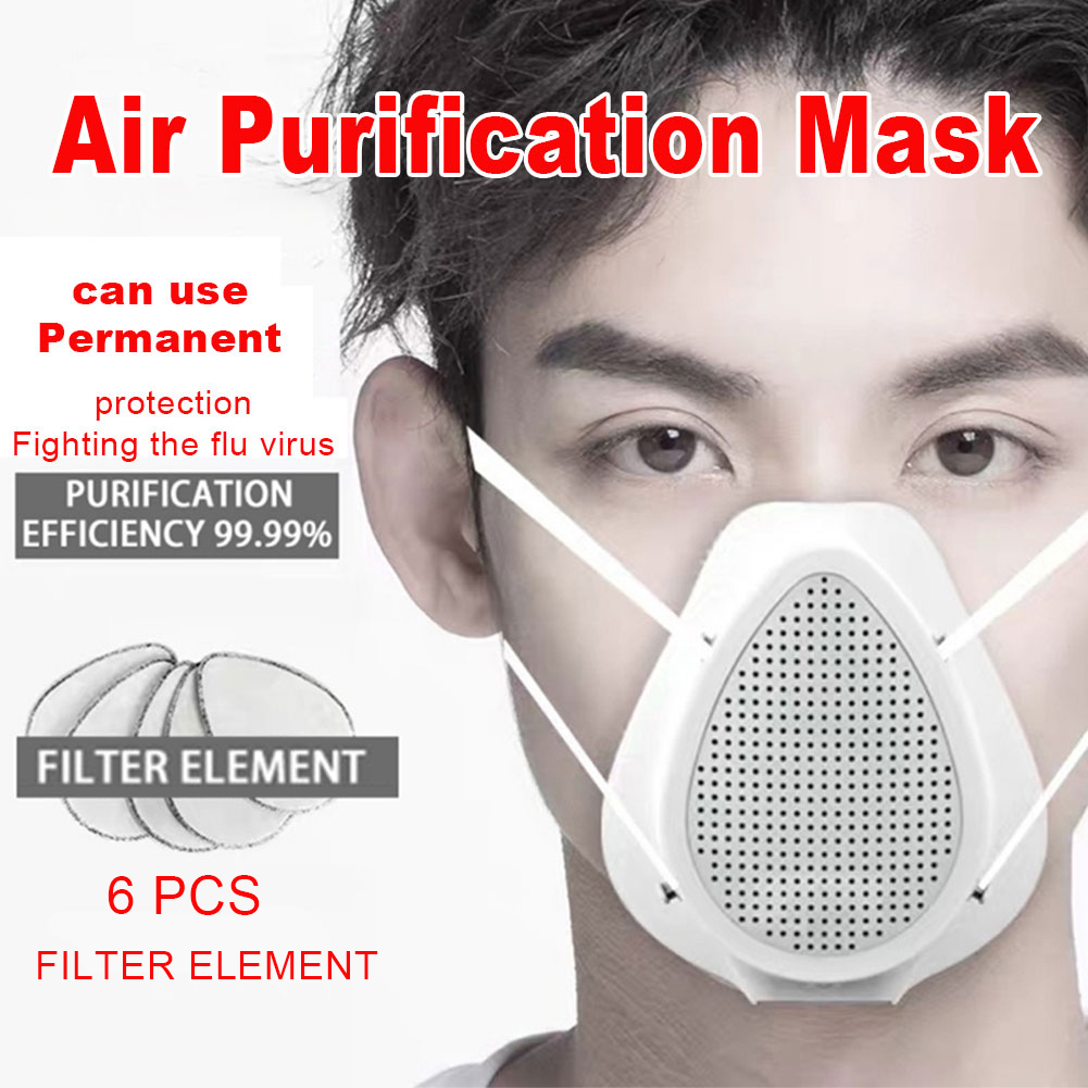Reusable Smart Electrical Filter Air Inlet Breathing Face Mask Purification Mask Anti Dust Pollution PM 2.5 Respiratory Fliters|Masks| |  - title=