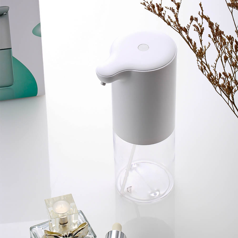 H220d1217aa72408ab61711254e1da9c2d 320ml Automatic Foam Soap Dispenser Touchless Foaming Infrared Motion Sensor Hands-Free Soap Pump Dispenser For Bathroom Kitchen