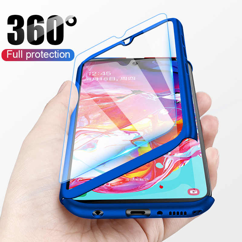 Sang Trọng 360 Bao Bọc Toàn Bộ Kính Cường Lực Cho Huawei Honor Y5 Y6 Y7 Y9 P Smart Z Pro Plus Prime 2018 năm 2019 Bảo Vệ Mặt Sau Coque