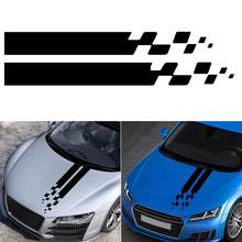 Universal Vinyl Decals 2Pcs Auto Car Hood Stripes Sticker For BMW Ford Toyota Renault Peugeot Mercedes Honda DIY Bonnet Decor(China)