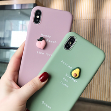 Cute 3D Lovely Fruit Avocado Phone Case For iPhone SF