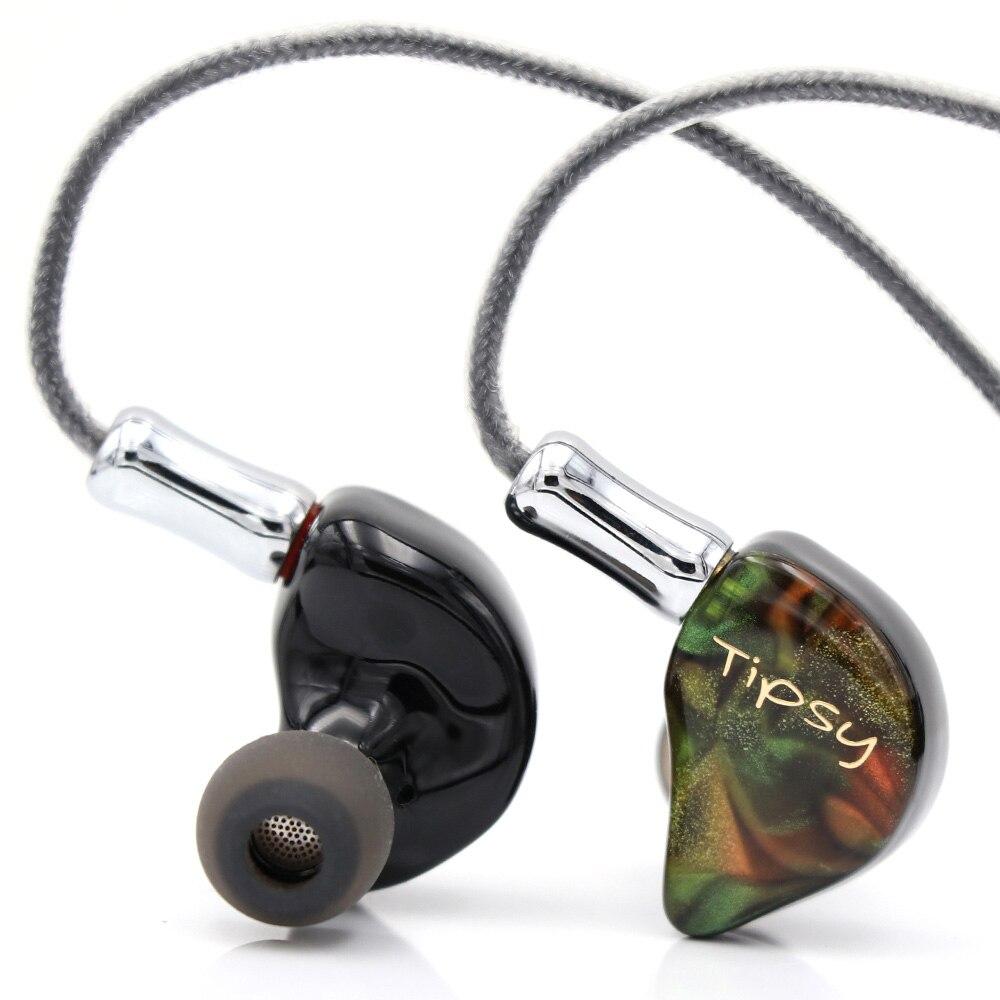 Tipsy Dunmer Pro pilote dynamique + 2 Armatures équilibrées hybride HiFi écouteurs intra-auriculaires avec câble détachable 2 broches