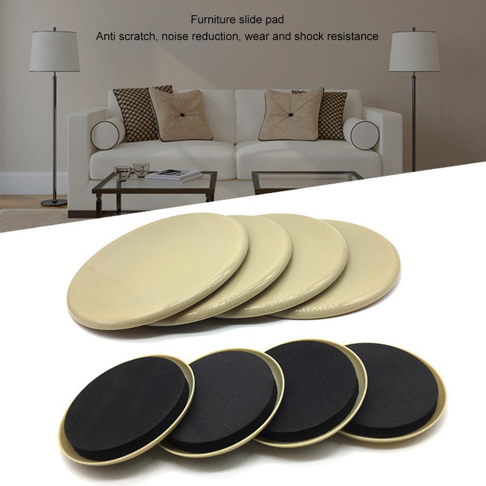 4pcs Furniture Sliding Mat Moving Pad Sturdy Wear Resistant Sofa Anti Scratch Thickened Protect Carpet