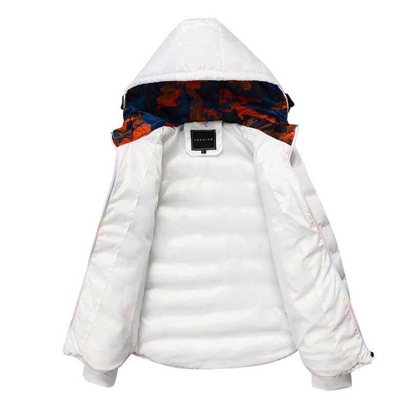 Heiße Neue 2019 Marke Jacke Männer Winter Jacken Mode Beiläufige Dünne Dicke Warme Mantel Herren Baumwolle Mit Kapuze Parkas Männlichen Casaco masculino