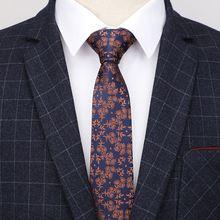 Подарок 6 см обтягивающий галстук формальное платье мужские галстуки Свадебный жаккардовый новогодние Галстуки Галстук черные мужские галстуки