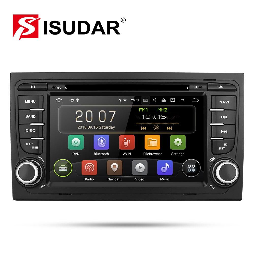 Isudar 9 2 Din Rádio Auto Android Para Audi/A4/2 S4 2002-2008 Quad Core RAM GB de Vídeo Multimídia Carro DVD Player GPS DVR USB FM/AM