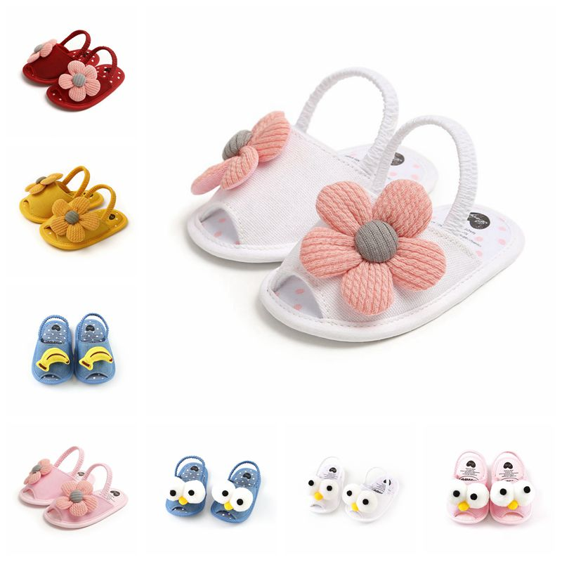 Summer Baby Boys Girls Sandals Cute Flower Dot Breathable Anti-Slip Shoe Toddler Soft Soled First Walkers Casual Shoes