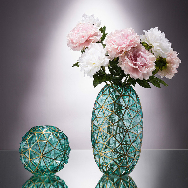 Minimalist Glass Vase Home Decoration Hydroponic Flowers Dry Flower Living Room Decor Geometry Creative Simple Concise Ornaments 4