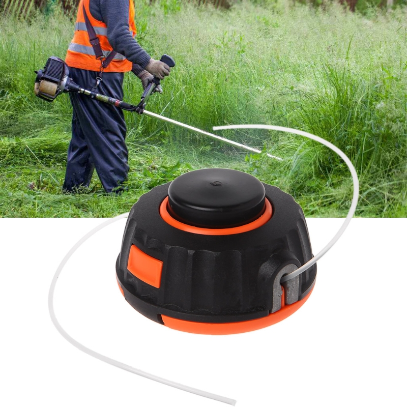 Universal Garden Trimmer Head Line Pump 2 Lines Strimmer Brush Cutter Lawn Mower For Grass Trimmer