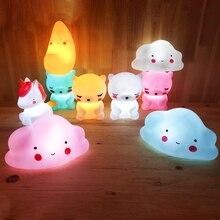 Bear LED Cloud Moon Unicorn Night Light Baby Child Kid Room Animal Cartoon Bedside Bedroom Living Decorative Lighting