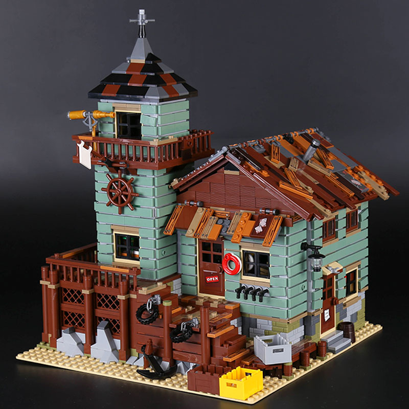 2294Pcs MOC Series 16050 Old Fishing Store Set Compatible With Legoings house Building Blocks Bricks Educational Kids Toy 2