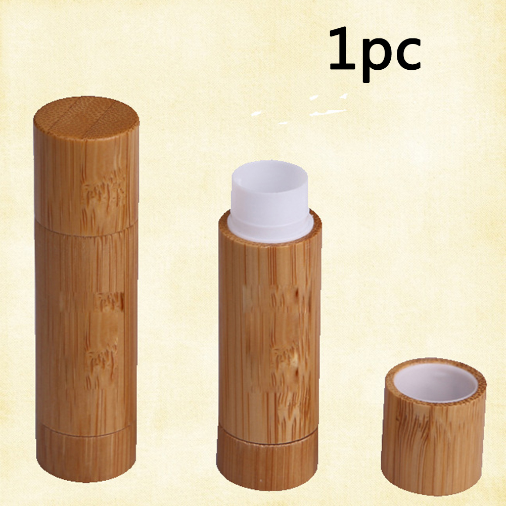 5ml Empty Refillable Bamboo Lip Balm Tube Lipstick Deodorant Stick Cap DIY Crayon Homemade Chapstick Container For Girls Women