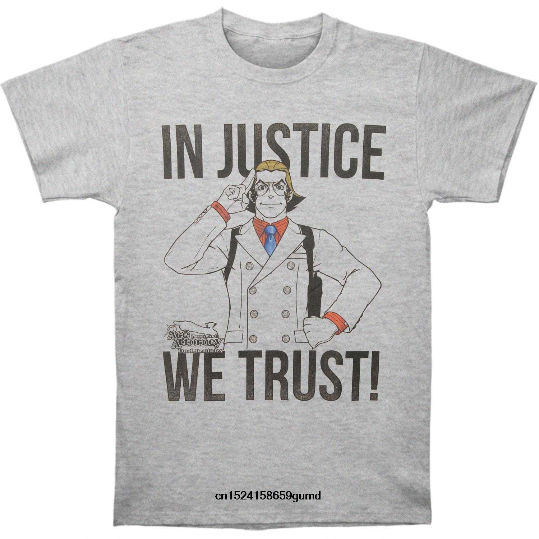 Divertente Uomo t shirt Delle Donne della novità maglietta Ace Attorney In Giustizia Slim Fit t-shirt