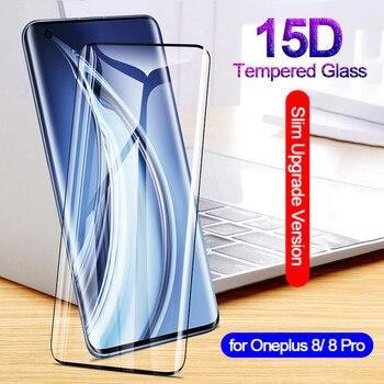 Перейти на Алиэкспресс и купить Для Oneplus 8 Pro стекло для Oneplus 7 7T 8 Pro защита экрана Ультра тонкая защитная 9H закаленное 15D стекло пленка