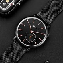 цена Fashion Watch Men Waterproof Slim Mesh Strap Brand Minimalist Wrist Watches For Men Quartz Sports Watch Clock Relogio Masculino онлайн в 2017 году