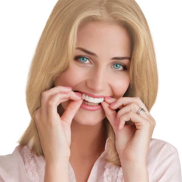 2 pi ces ajustement parfait blanchiment des dents faux couvercle des dents Snap On Silicone sourire