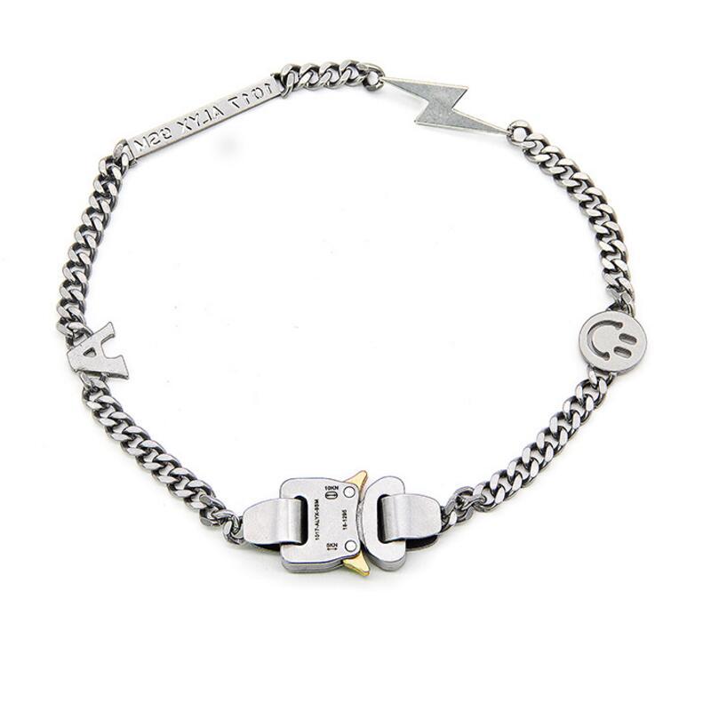 19ss Аликс ожерелье металлический браслет цепочка мужские и женские хип хоп молния уличные аксессуары Аликс Смайл ожерелье
