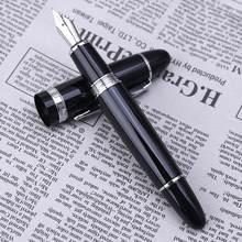 Высокое качество, новейший Jinhao 159, перьевая ручка, черный и серебристый, M Nib толстый
